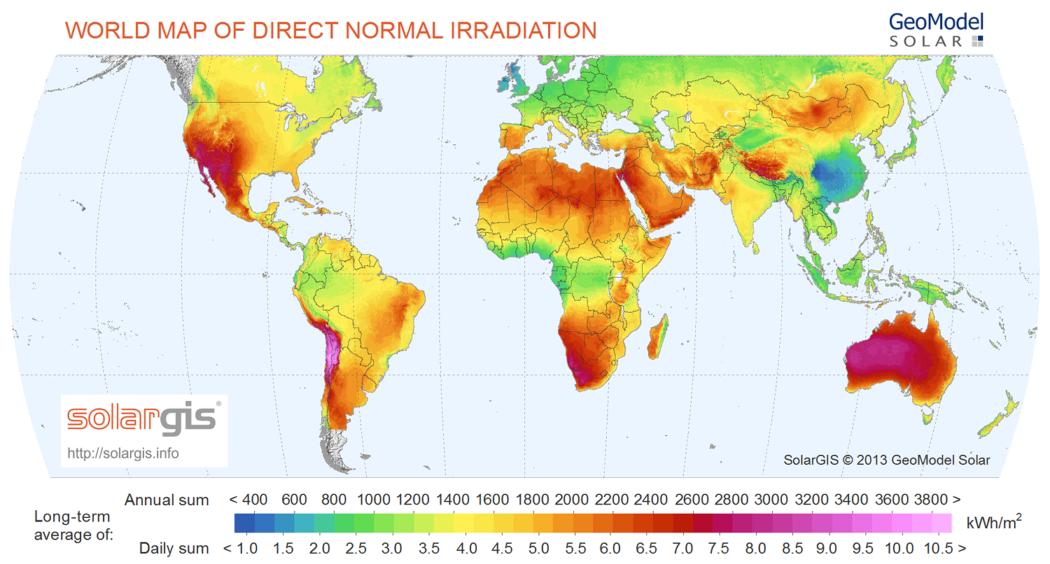 Best Solar Power Regions Worldwide  Alternative Energy HQ